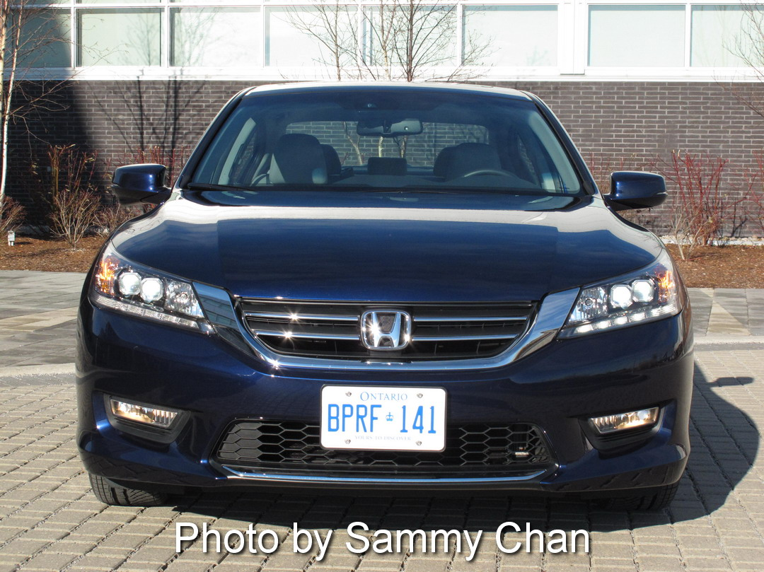 2013 Honda Accord V6 Touring Blue front view
