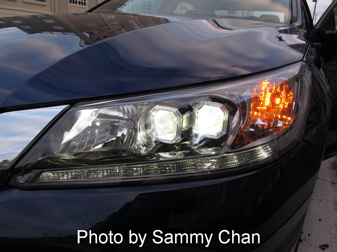 2013 Honda Accord V6 Touring Blue headlights on