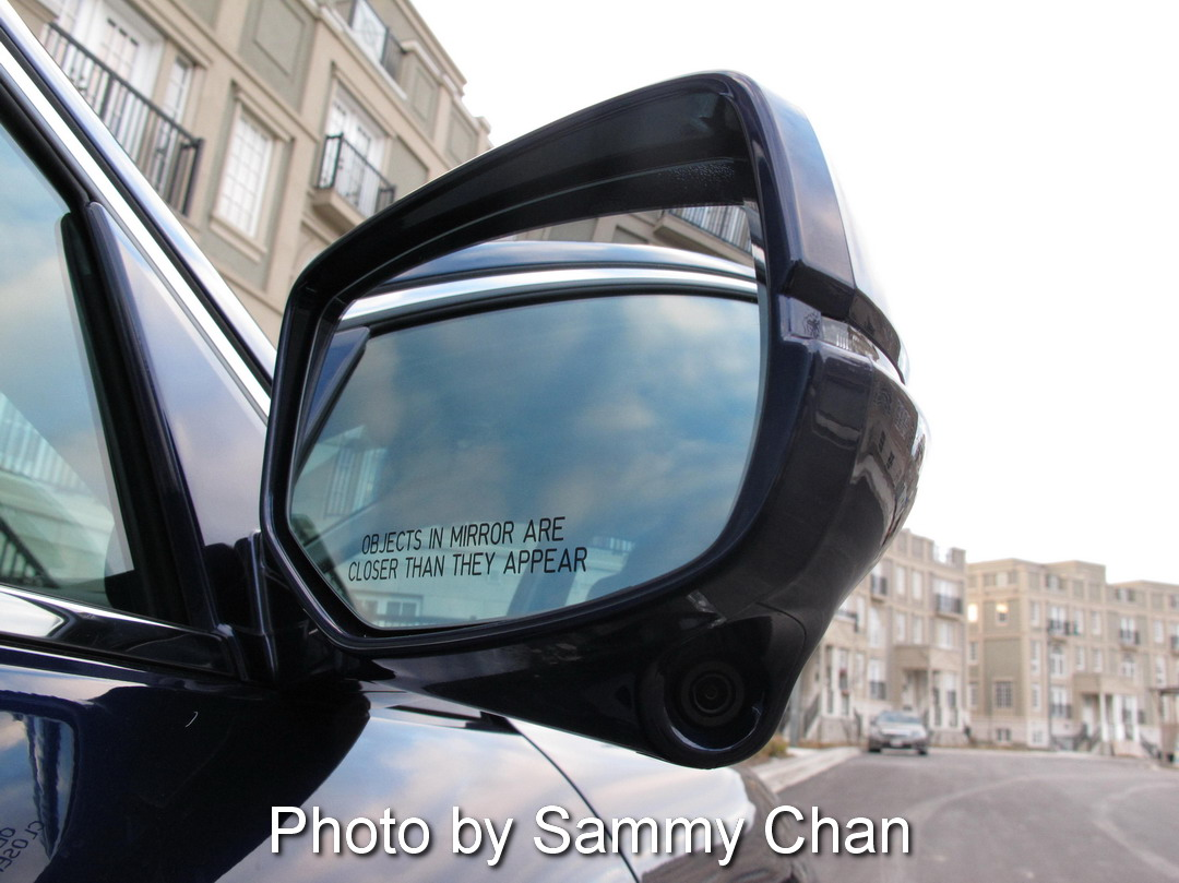 2013 Honda Accord V6 Touring Blue side mirror camera