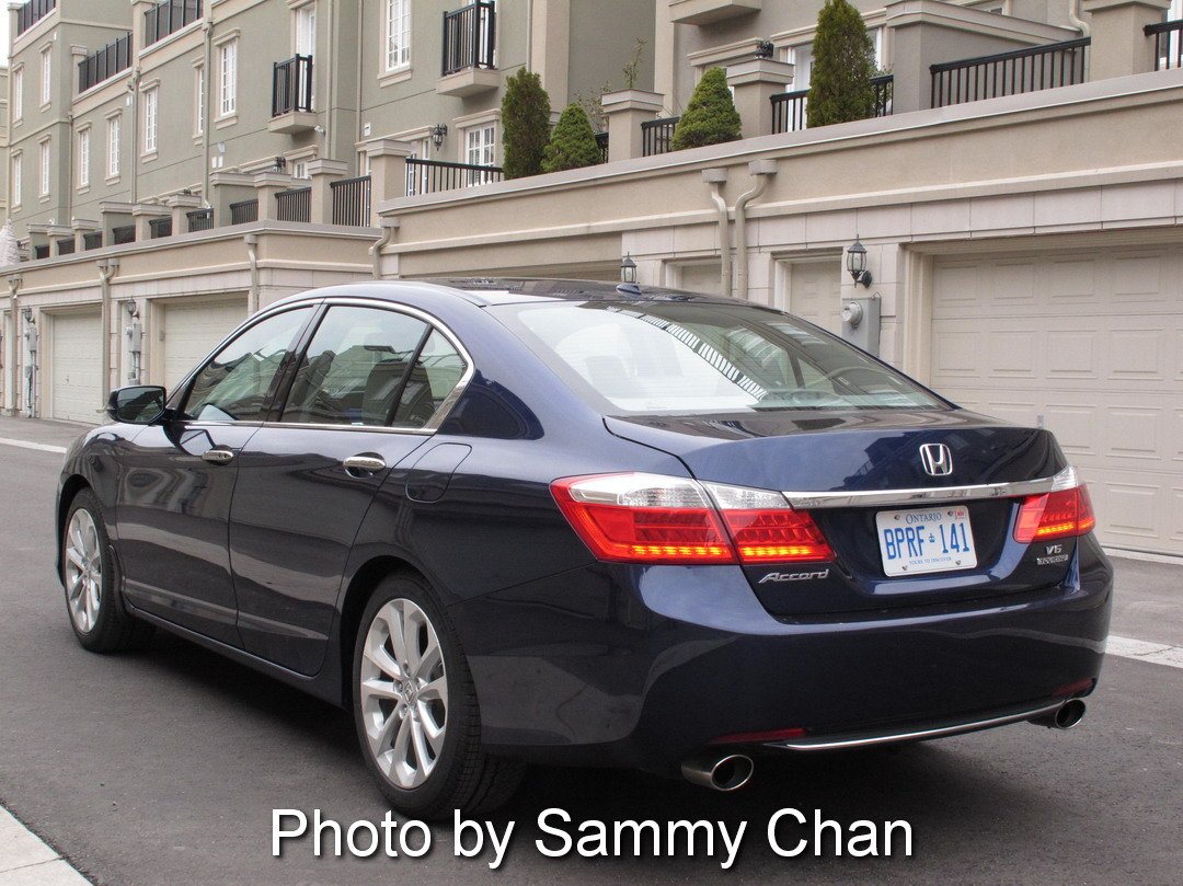 2013 Honda Accord V6 Touring Blue rear side view