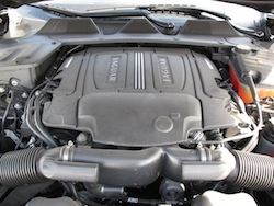 2013 Jaguar XJ 3.0L AWD Black engine bay