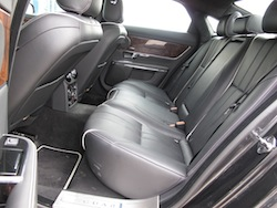2013 Jaguar XJ 3.0L AWD Black interior rear seats