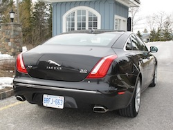 2013 Jaguar XJ 3.0L AWD Black rear side view