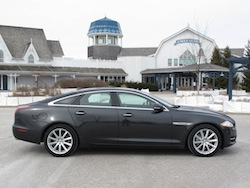 2013 Jaguar XJ 3.0L AWD Black side view