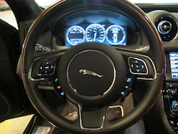 2013 Jaguar XJ 3.0L AWD Black night steering wheel interior