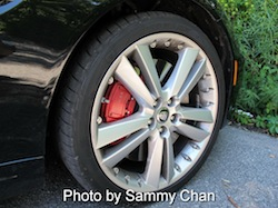 2013 Jaguar XKR Convertible Black wheels rims with red calipers