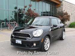 2013 Mini Cooper S Paceman ALL4 Black front side view