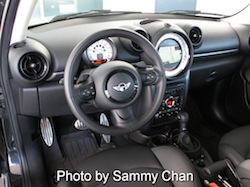 2013 Mini Cooper S Paceman ALL4 Black interior dashboard view