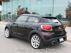 2013 Mini Cooper S Paceman ALL4 Black rear side view
