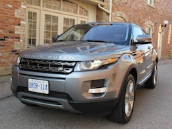 2013 Range Rover Evoque Coupe Metal Gray front side view