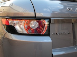 2013 Range Rover Evoque Coupe Metal Gray rear taillights off