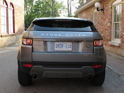 2013 Range Rover Evoque Coupe Metal Gray rear view taillights