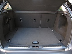 2013 Range Rover Evoque Coupe Metal Gray trunk storage space