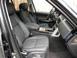 2013 Range Rover V8 Supercharged Black front seat view