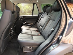 2013 Range Rover V8 Supercharged Black view of rear seats