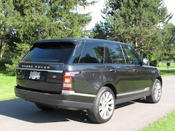 2013 Range Rover V8 Supercharged Black rear side view