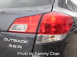 2013 Subaru Outback 3.6R Limited Gray rear taillights on
