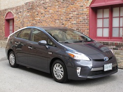 2013 Toyota Prius Plugin Hybrid Gray front side view at markham main street
