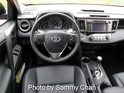 2013 Toyota RAV4 Red interior dashboard