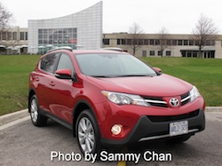 2013 Toyota RAV4 Red front side
