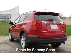 2013 Toyota RAV4 Red rear side view