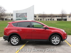 2013 Toyota RAV4 Red side view