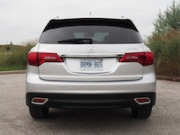2014 Acura MDX Elite Silver rear exhaust tail lamps