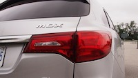 2014 Acura MDX Elite Silver tail lamps