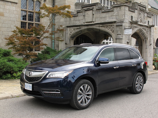 2014 Acura MDX Black Blue front side view castle