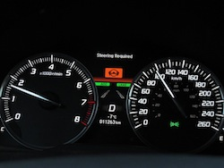 2014 Acura MDX instrument cluster gauges steering required