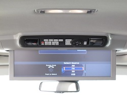 2014 Acura MDX rear entertainment system dvd tv display