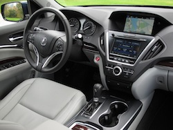 2014 Acura MDX front interior steering wheel and dashboard