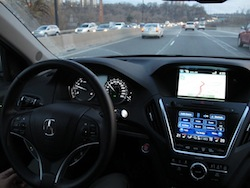 2014 Acura MDX self driving automated