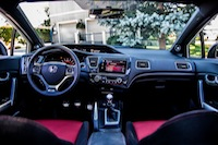 2014 Honda Civic Si Coupe White interior dashboard