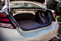 2014 Honda Civic Si Coupe White trunk storage cargo