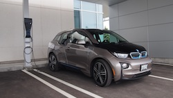 2014 BMW i3 Gray charging station