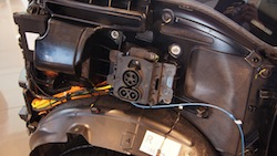 2014 BMW i3 Capparis White stripped bare battery plug socket