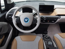 2014 BMW i3 Capparis White lodge package interior