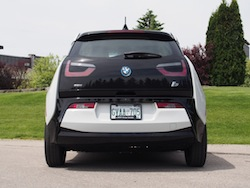 2014 BMW i3 Capparis White rear taillights