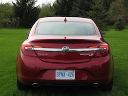 2014 Buick Regal Red full rear view