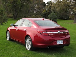 2014 Buick Regal Red rear side view