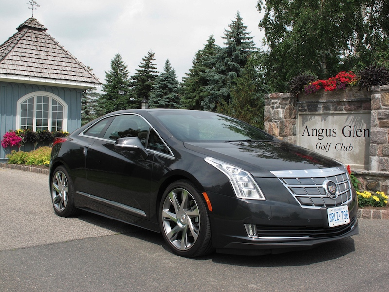2014 Cadillac ELR Graphite Gray front side view at angus glen