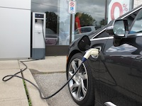 2014 Cadillac ELR Graphite Gray plugged in charging