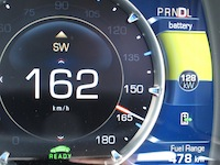 2014 Cadillac ELR driving gauges