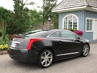 2014 Cadillac ELR Graphite Gray rear side view grass