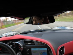 2014 Chevrolet Corvette C7 Stingray Yellow driving pov