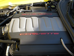 2014 Chevrolet Corvette C7 Stingray Yellow engine bay