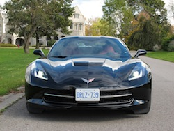 2014 Chevrolet Corvette C7 Stingray Black full front