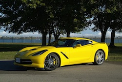 2014 Chevrolet Corvette C7 Stingray Yellow front side