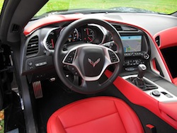 2014 Chevrolet Corvette C7 Stingray Yellow red interior dashboard